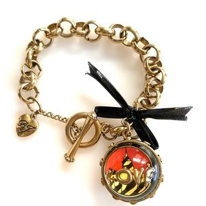 Betsey Johnson Rare LOVE Toggle Bracelet